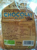 Briochettes aux Pépites de Chocolat au Lait - Produit