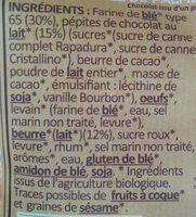 Briochettes aux Pépites de Chocolat au Lait - Ingrédients