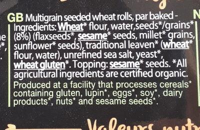Biofournil petit pavé aux céréales précuit bio - Ingrediënten