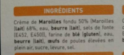 Mini brioches au Maroilles - Ingredients