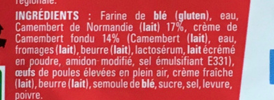 Tarte au Camembert de Normandie - Ingredients - fr