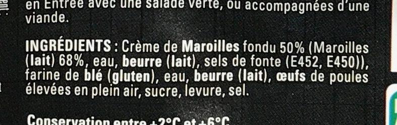 10 Mini Brioches au Maroilles - Ingrédients