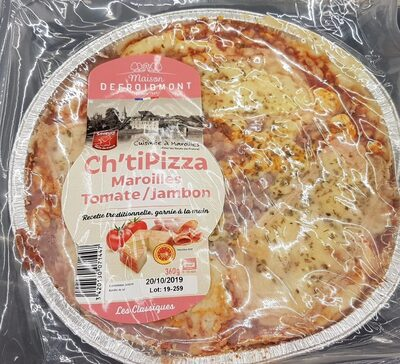Ch'ti pizza maroilles tomate jambon - Product
