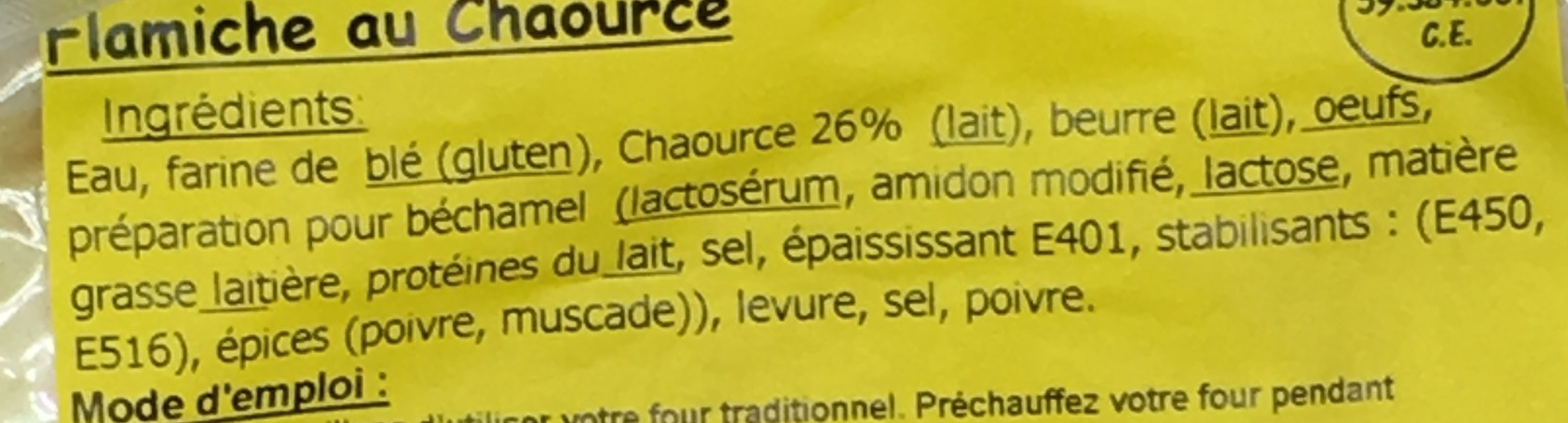 Flamiche au Chaource - Ingredients - fr