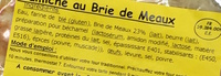 Flamiche au Brie de Meaux - Ingredients - fr