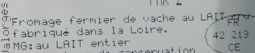 Le Bageon de Valorges affiné ovale - Ingredients - fr