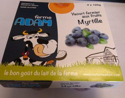 Yaourt fermier aux Myrtilles - Product
