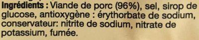 Lardons fumés - Ingrédients - fr