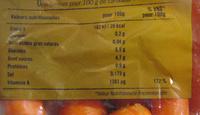 Carottes Priméale - Informations nutritionnelles - fr