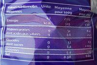 La Blue Chips - Informations nutritionnelles - fr