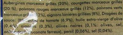 Poêlée de légumes grillés - Ingrédients - fr
