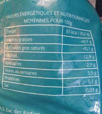 Ail coupe surgelé - Informations nutritionnelles - fr