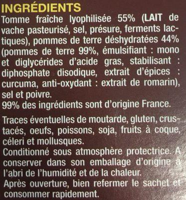 De Livinhac, Preparation pour l'Aligot d'Aveyron, le paquet de - Ingrédients