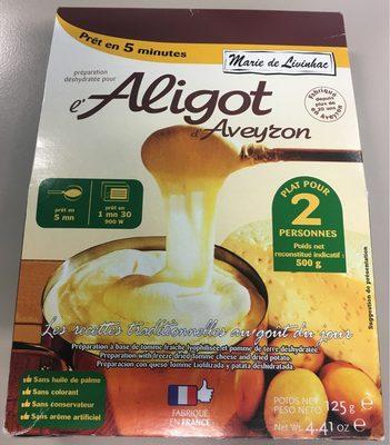 De Livinhac, Preparation pour l'Aligot d'Aveyron, le paquet de - Informations nutritionnelles