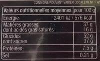 Assortiment de pralinés chocolat lait - Nutrition facts