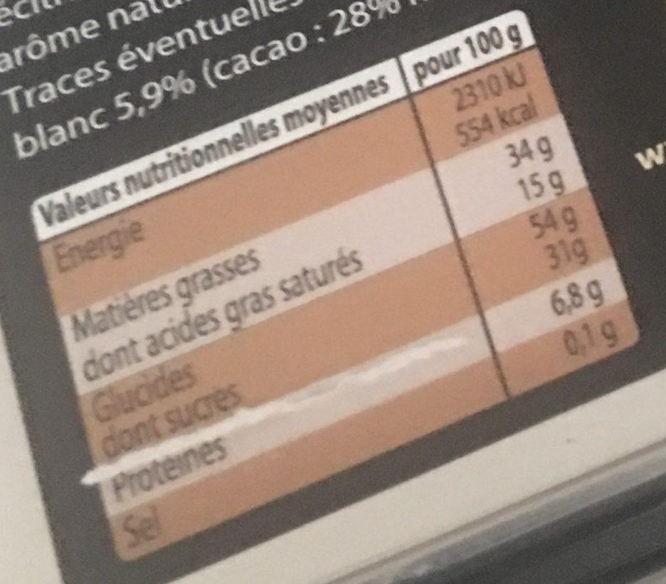 Assortiment de chocolats Chevaliers D'Argouges - Nutrition facts