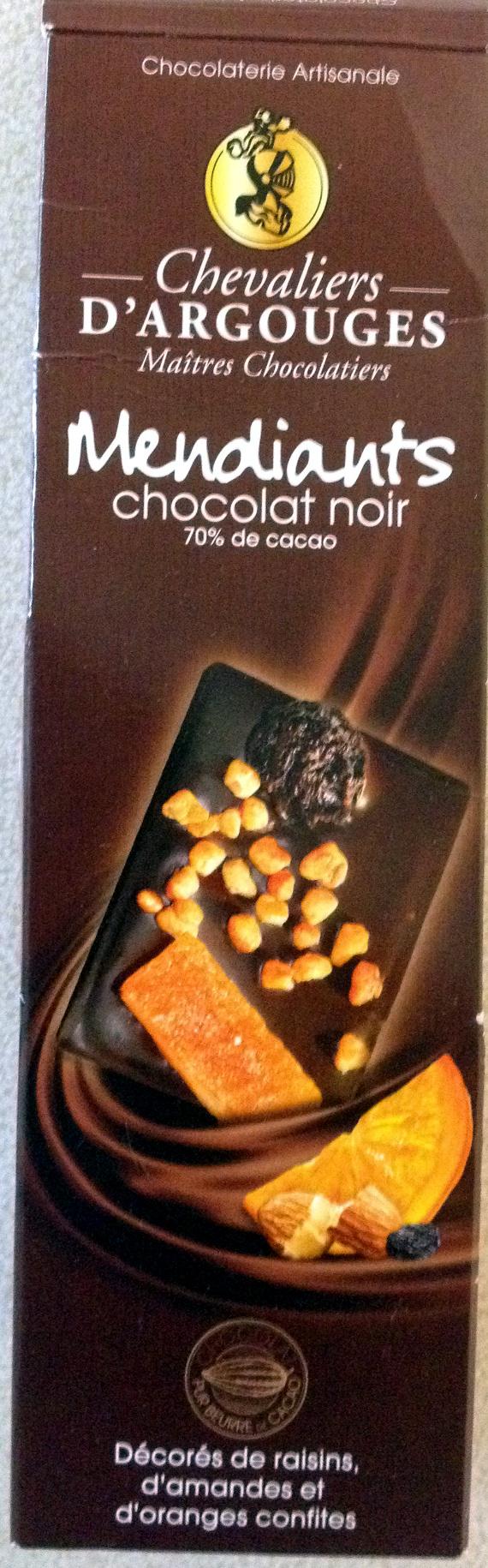 Mendiants chocolat noir - Product - fr