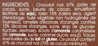 Mendiants chocolat noir - Ingredients - fr