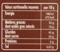 Mendiants chocolat noir - Nutrition facts - fr