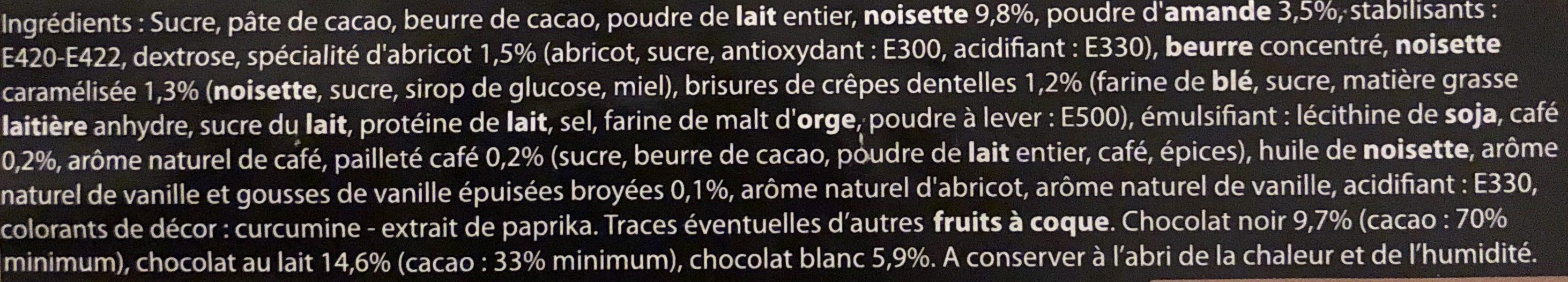 Chocolats - Ingredients