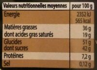 Chocolats assortis - Informations nutritionnelles - fr