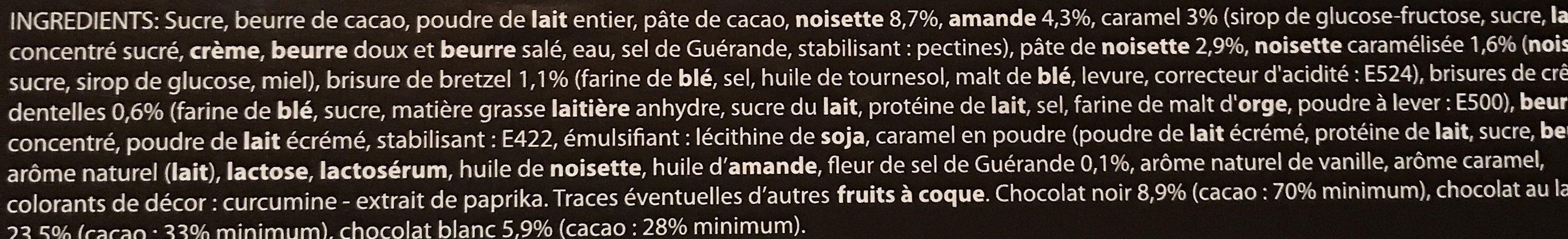 Assortiment de Chocolats - Ingredients