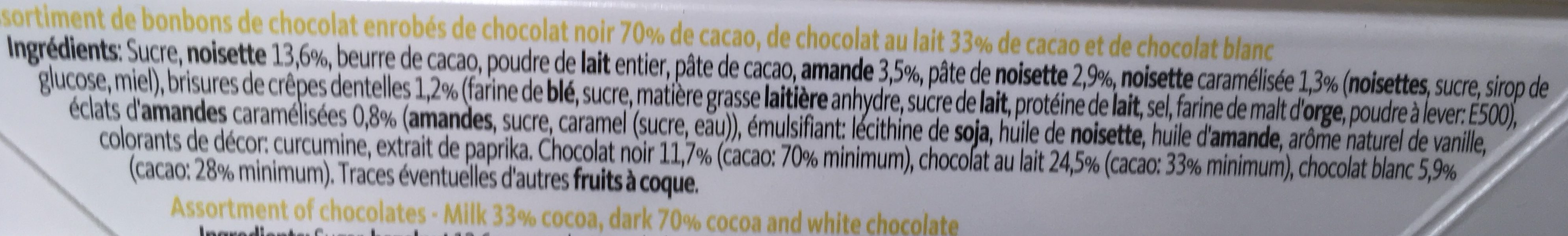 Collection pralines - Ingredients