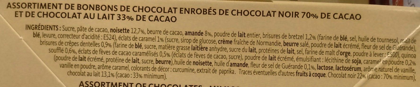 Chocolats Croustillant Praliné - Ingredients