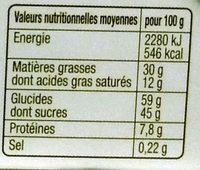 Chocolats Croustillant Praliné - Nutrition facts