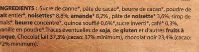 Assortiment de chocolats bio - Ingrédients - fr