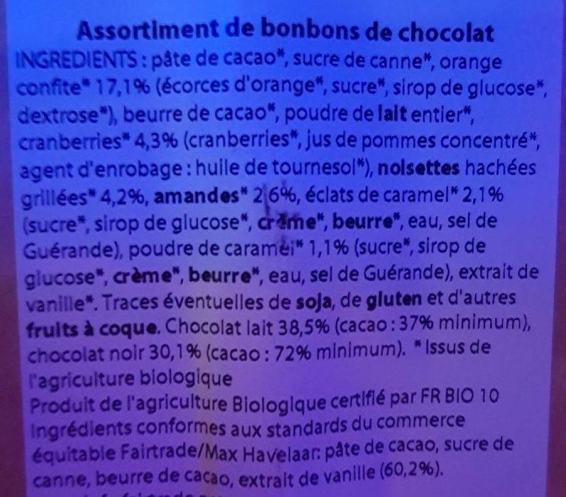 Assortiment De Chocolats Bio & équitable - Ingrédients