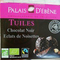 Tuiles chocolat noir éclats de noisettes - Produit - fr