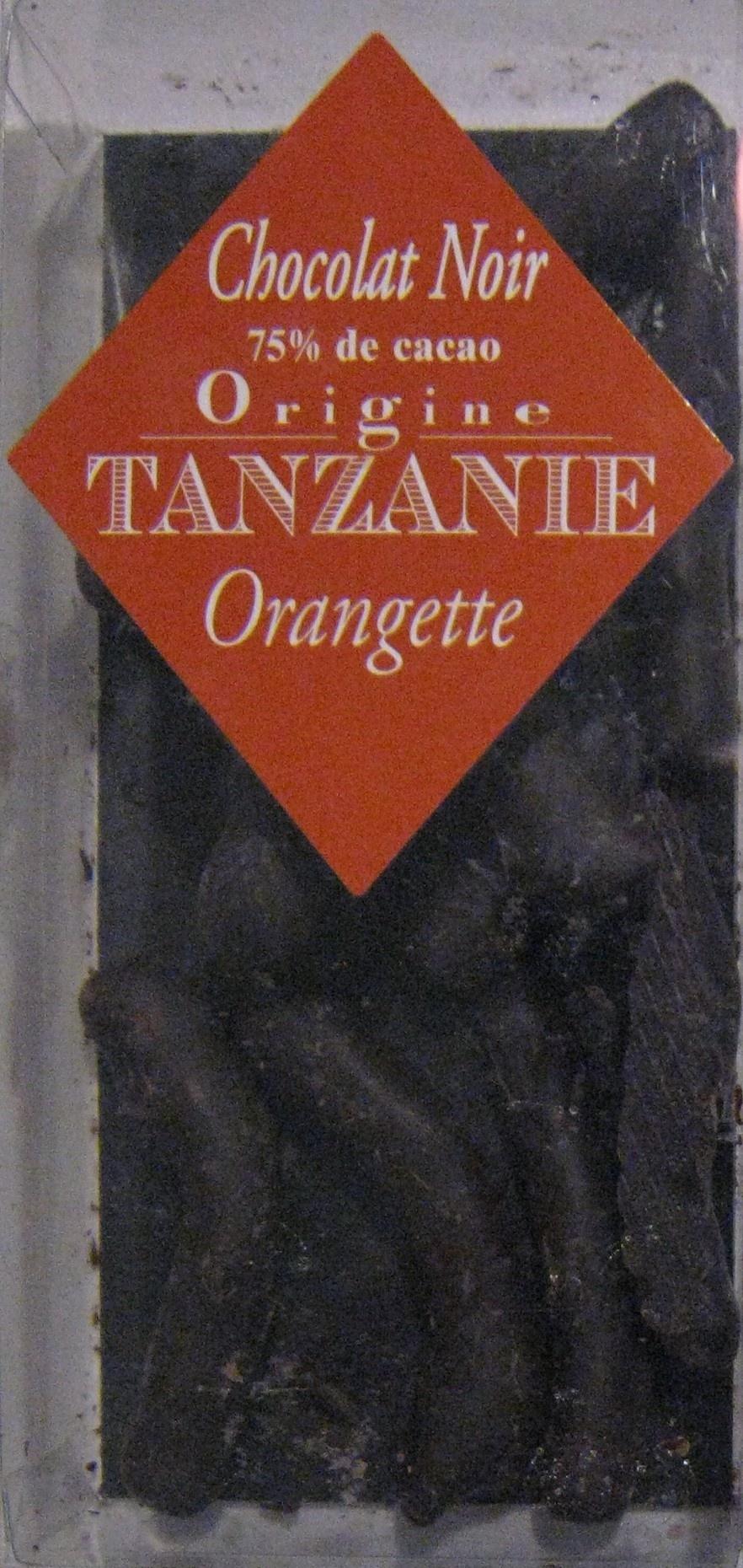 Orangettes chocolat noir origine Tanzanie Chocolaterie C.D.A. - Produit - fr