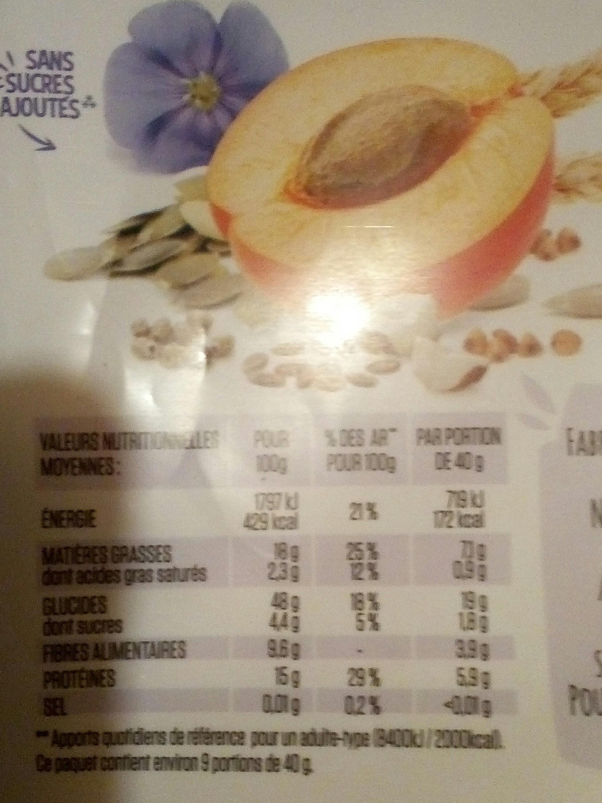 Muesli abricots & graines gourmandes - Informations nutritionnelles - fr