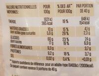 Muesli bananes, goji,  noix de cajou, - Informations nutritionnelles - fr