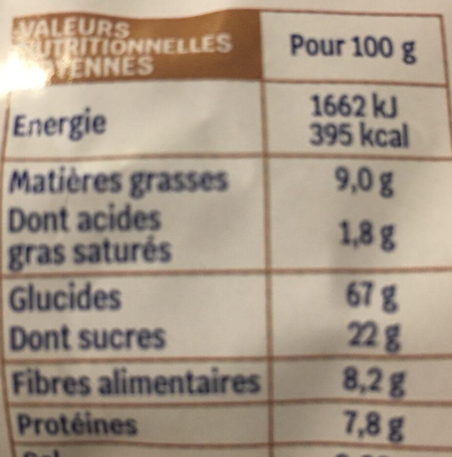 Muesli croustillant Chocolat & Amandes - Informations nutritionnelles - fr