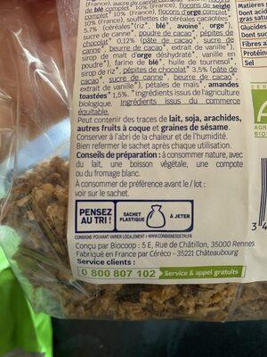 Muesli croustillant Chocolat & Amandes - Instruction de recyclage et/ou informations d'emballage - fr