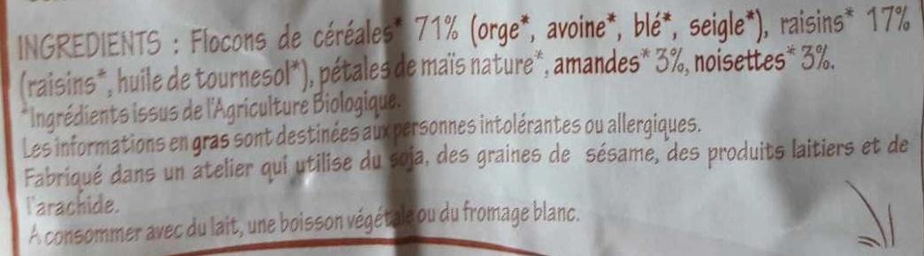 Muesli noisettes - Ingredients - fr
