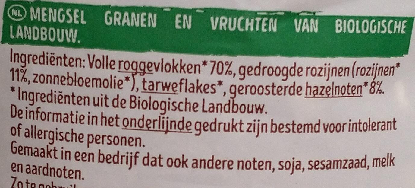 Muesli noisettes - Ingrediënten - nl