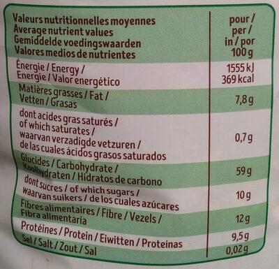 Muesli noisettes - Voedingswaarden - fr