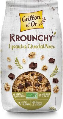 Krounchy épeautre chocolat noir - Produit - fr