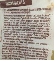 Krounchy épeautre chocolat noir - Ingrédients - fr