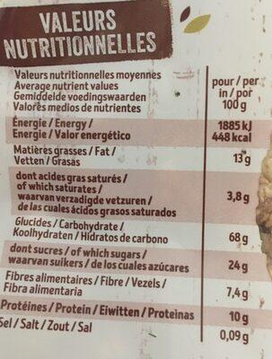 Krounchy épeautre chocolat noir - Informations nutritionnelles - fr