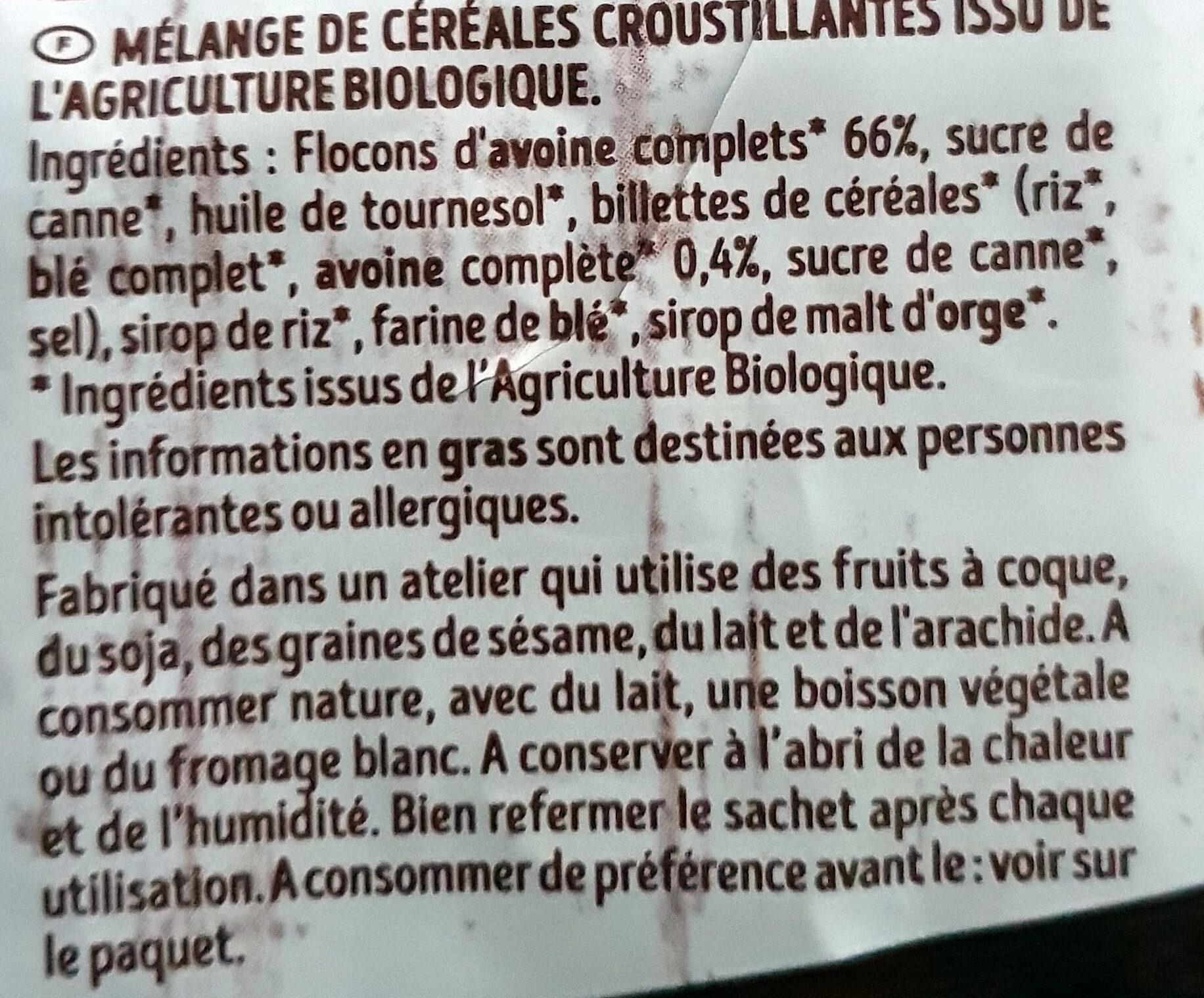 Krounchy Nature - Ingrediënten - fr