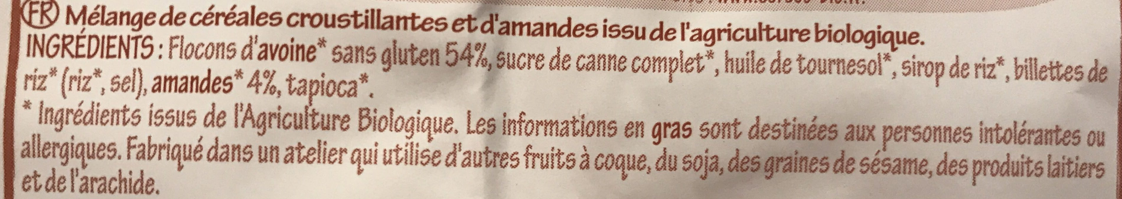 Krounchy amande - Ingredients - fr