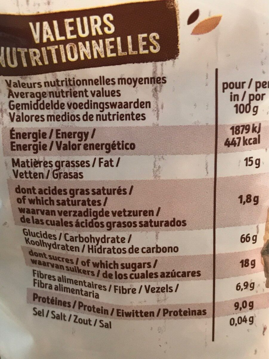 Krounchy amande - Nutrition facts - fr