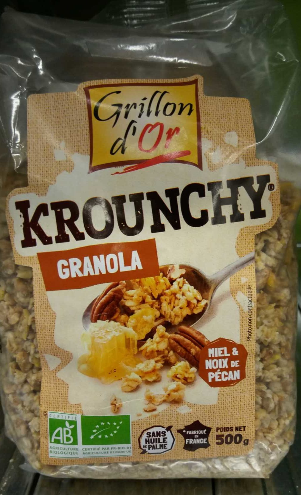 krounchy granola miel noix de p can grillon d 39 or 500 g. Black Bedroom Furniture Sets. Home Design Ideas
