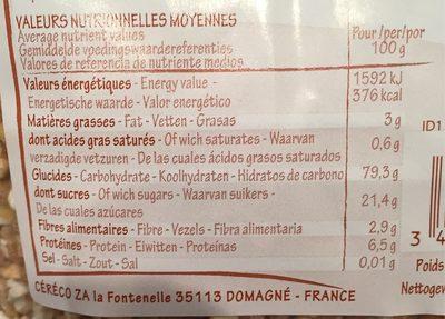 Krounchy châtaigne - Nutrition facts