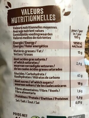 Krounchy chocolat - Informations nutritionnelles - fr