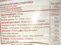 Flakes d'Épeautre Complet - Información nutricional - fr